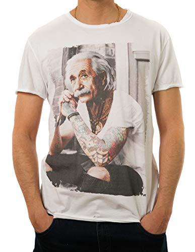 new collection Maglietta T-Shirt Einstein (M Uomo, Bianco)