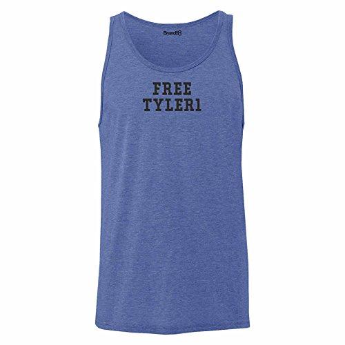 Brand88 - Free Tyler1, Unisex Jersey Weste Blau Meliert