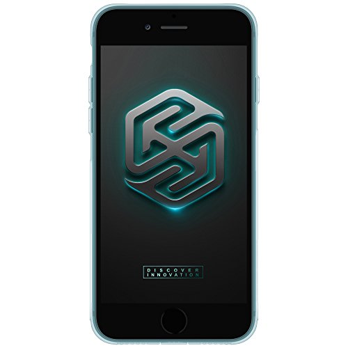 KaiTelin Apple iPhone 7 Plus Hülle - Extra Dünn TPU Transparente Weich Hülle Case Schutzhülle für Apple iPhone 7 Plus - Himmel blau Himmel blau