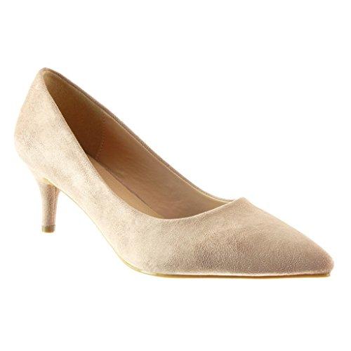 Angkorly - Scarpe da Moda scarpe decollete stiletto decollete donna Tacco Stiletto tacco alto 6 CM Rosa
