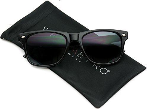 WearMe Pro Herren Retro Sonnenbrille (Schwarz)