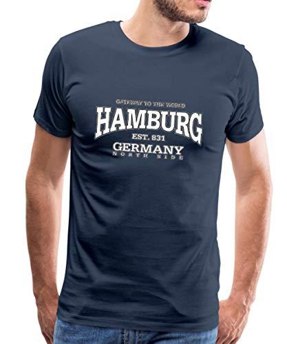 Hamburg Est 831 Germany North Side Männer Premium T-Shirt, XL, Navy