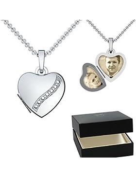Herz Medaillon zum Öffnen Silber