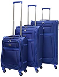17327d61a Aerolite Reinforced Super Strong and Light 4 Wheel Lightweight Carry On  Hand Cabin Luggage Suitcase , Approved for Ryanair ,…