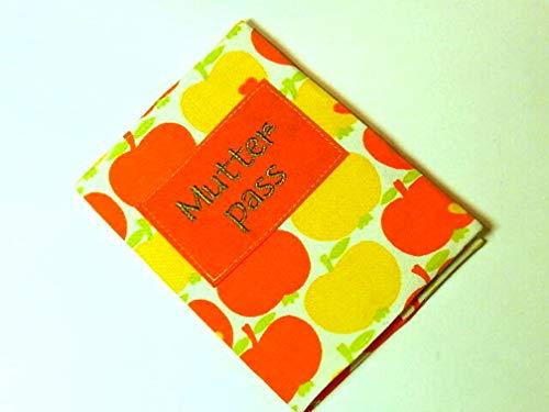 Orange Gelbe Stoff Mutterpasshülle von KonsumSchwestern