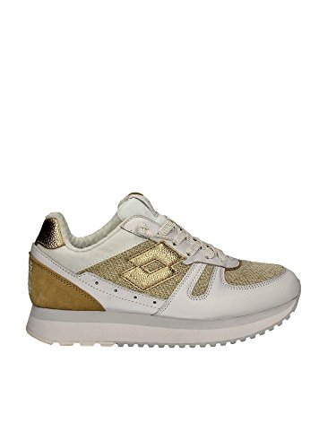 LOTTO Frauen niedrige Turnschuhe S8906 TOKYO WEDGE W White/Gold Star