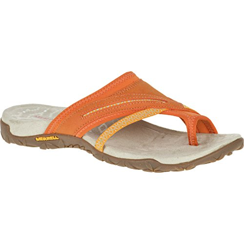 Merrell Terran Post Ii, Sandales Bout Ouvert Femme, Rose, 37 EU Orange