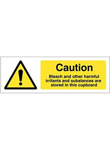 Caledonia Schilder 14400G Bleichmittel und andere schädliche Reizstoffe und Stoffe, werden in dieser Schrank Zeichen, 300mm x 100mm, starrer Kunststoff