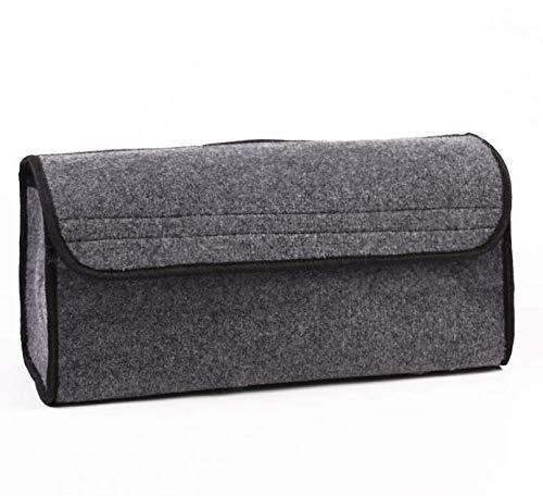 WESEEDOO Auto Boot Taschen Trunk Storage Organizer Autotasche Universal Auto-Kofferraumspeicher Ordentliche Tasche (Grau) -