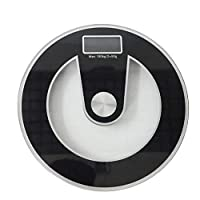 Italish Round Body Weighing Fitness Health Care Scale Body Fat Monitor Devices (Size : 13 x 13 inch)