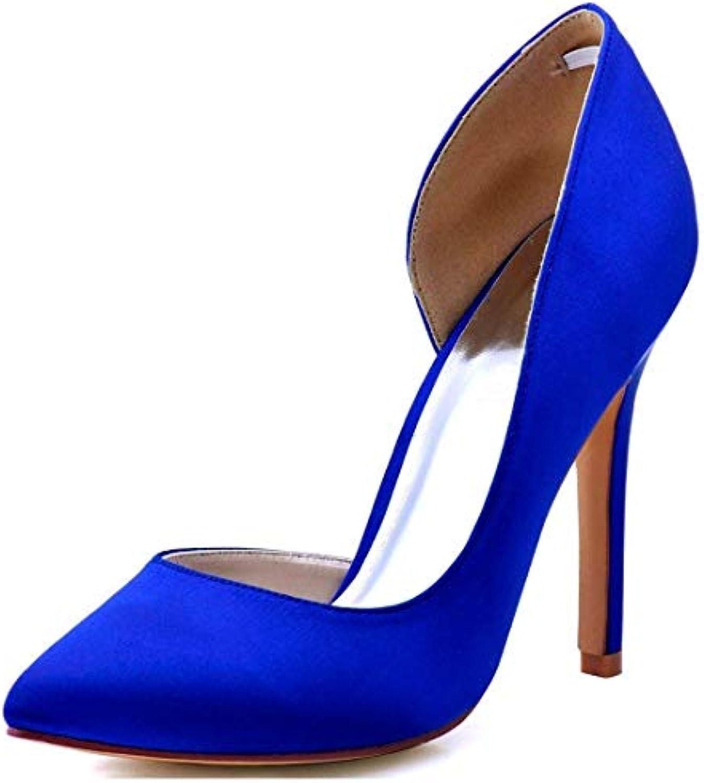 Qiusa Qiusa Qiusa Ladies Almond Toe D'Orsay blu Satin Matrimonio Formale Scarpe da Festa UK 5 (Coloreee   -, Dimensione   -)   Acquisto  0edf8a