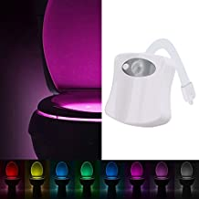 Gyoyo Luz led para niños, baños, inodoro, armario, lavabo, pasillo, habitación, escalera (con sensor y 8 cambios de color)