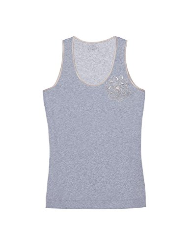 Intimissimi Damen Top aus Supima Cotton® Extrafine mit Blume Grau - 7406
