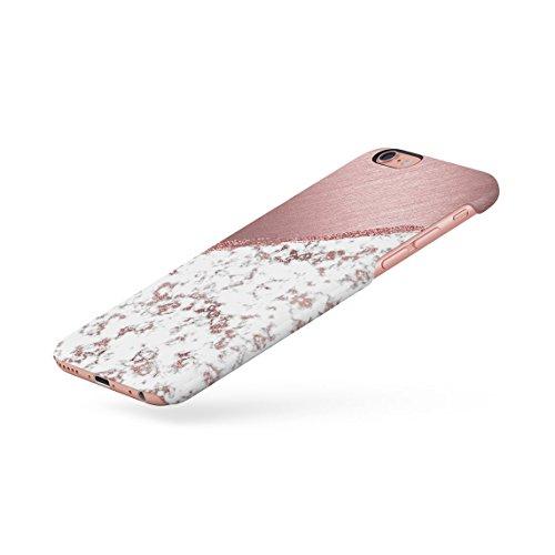 White & Black Cracked Marble & Oak Wood Blocks Dünne Rückschale aus Hartplastik für iPhone 6 Plus & iPhone 6s Plus Handy Hülle Schutzhülle Slim Fit Case cover White Rose