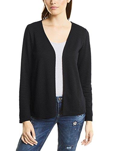 Street One Short Structured Jacket, T-Shirt Donna Nero (Black 10001)