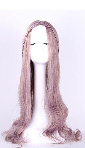 Perruque Longue Perruques Synthétiques Bouclés Pour Les Femmes Perruque De Haute Qualité Perruque Cosplay Pas Cher,Pink
