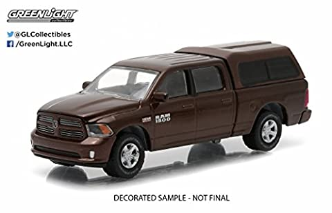 Greenlight 2014 Dodge Ram 1500 Work Pickup Truck Metallic Brown With Camper Shell
