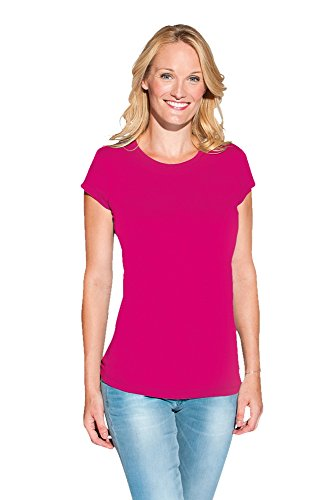 Bio T-Shirt Damen Bright Rose