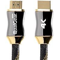 QualGear HDMI Premium Certificado 2.0Cable con contactos chapados en Oro de 24K