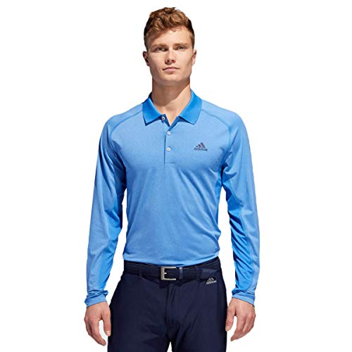 Herren Climacool Polo Golf Shirts (adidas Herren Ultimate 365 Climacool Solid Long Sleeve Polo Poloshirt Blau (Azul Ec3221) Large)