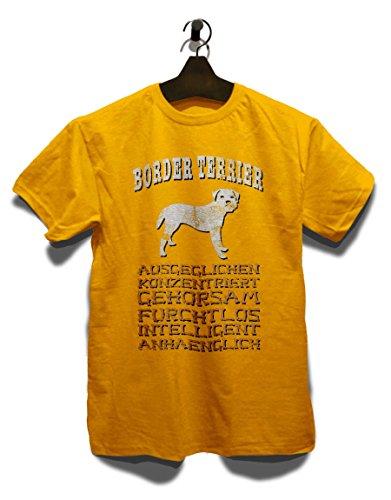 Hund Border Terrier Herren T-Shirt Gelb
