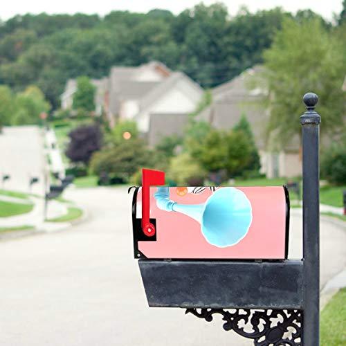 LONGYUU Türkis Grammophon Plattenspieler Standardgröße Original Magnetic Mail Anschreiben Briefkasten 21 x 18 Zoll Urlaub Mailbox Cover Magnetic Mailbox Covers Sommer Mailbo Covers