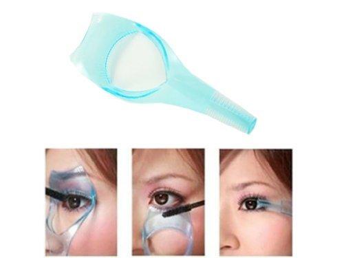 3-in-1 Schminkhilfe für Mascara, mit Wimpernbürstchen -