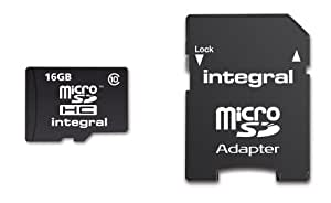 Integral 16GB Class 10 Micro SDHC Memory Card with Adapter