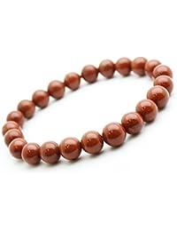 Bracelet Jaspe rouge en pierre semi-précieuse perles de 8 mm. Pierre APAISANTE ET ANTI-STRESS