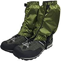 Hiking gaiters for outdoor, camping, running, walking, backpacking, women, men, ankle, leg guard, bootlegging gaiter, cover, snow, breathable mountain hunting climbing. Army Green