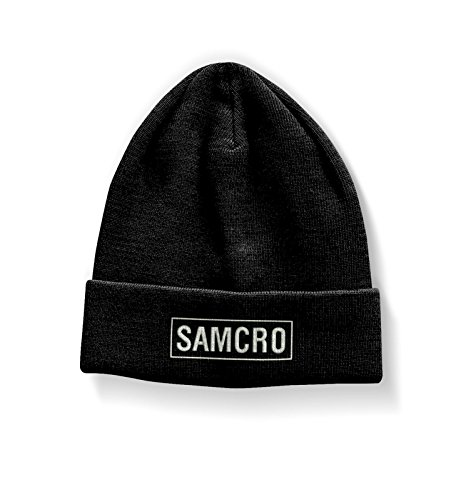 ze Beanie Cap Samcro Embroidered logo Nue offiziell (Sons Of Anarchy Womens Jacket)