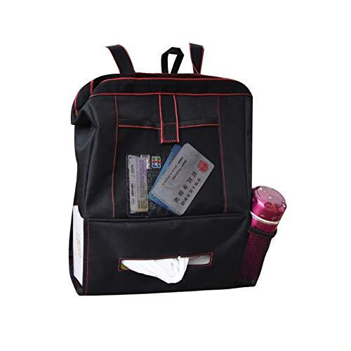 ZMXZMQ Auslaufsicherer Seatback-papierkorb, Taschentaschen, Rückenlehnen-Organizer Und Tissue-Halter, Schwarz (Papierkorb Kofferraum)