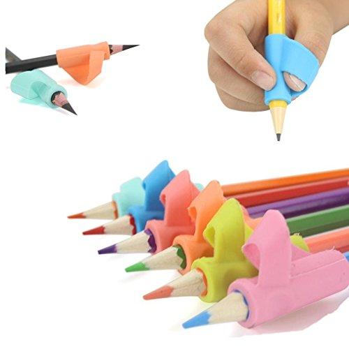 Keepwin - Soporte ergonómico para lápices. 3 unidades, para ayudar en el aprendizaje a diestros y zurdos., color multicolor