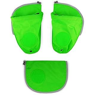 Ergobag Zubehör Pack Seitentaschen Zip-Sets 3-TLG. grün