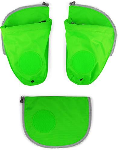 Ergobag Zubehör Pack Seitentaschen Zip-Set 3-TLG. fluoreszierned grün
