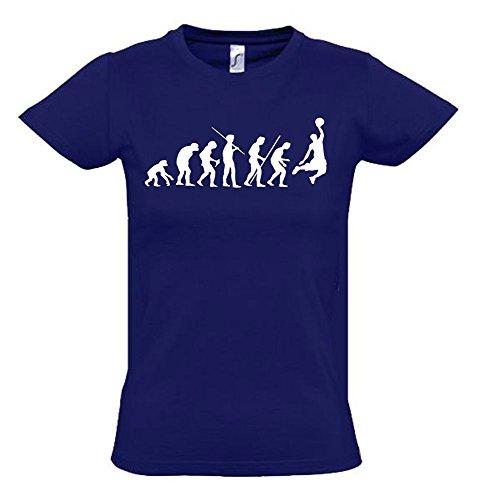 BASKETBALL Evolution Kinder T-Shirt navy-weiss, Gr.164cm