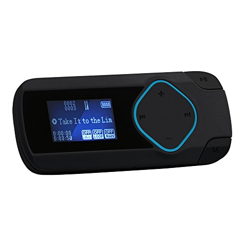 "AGPtek R2- Mini Clip Reproductor de MP3 (8 GB, pantalla de 1.0"", Radio), color Negro"