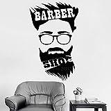 haotong11 56 * 90 cmNouveau Salon de Coiffure Hommes Sticker barbier Signe Salon de Coiffure Coiffeur Vinyle Stickers muraux peintures murales Art fenêtre décor Coupe de Cheveux...