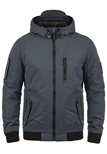 BLEND Marc Herren Winterjacke Bomber-Jacke mit Kapuze aus hochwertigem Material, Größe:L, Farbe:Ebony Grey (75111)