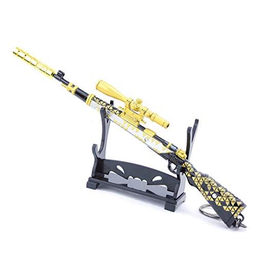6 Mini Metall 98K Scharfschützengewehr Military Modell Action Figure Schlüsselanhänger Spielzeug Zubehör (I) ()