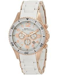 Marc Jacobs MBM2547 - Reloj con correa de piel para mujer, color blanco / gris