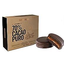 Galletas dobles con relleno de crema de caramelo de leche y cobertura de chocolate - 70