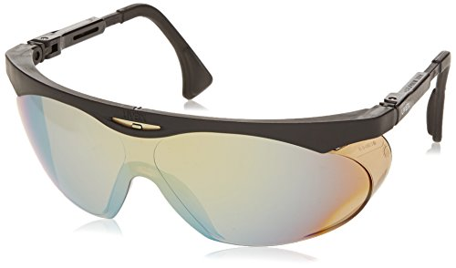 Uvex S1903 Skyper Safety Eyewear, Black Frame, Gold Mirror Ultra-Dura Hardcoat Lens by Uvex
