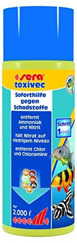 Sera toxivec - Erste Hilfe im Aquarium bzw. Schadstoffe entfernen, für biologisch gesundes Aquariumwasser und damit weniger Wasserwechsel