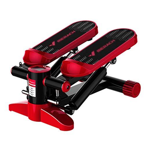 Stepper Roter Stummer Hauptgewichtsverlustmaschine Die Pedal-Eignungsausrüstung Abnimmt In Situ Laufband Dünne Taille Hüften Tragendes Gewicht 150kg (Color : Red, Size : 33 * 43 * 20cm)