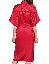 Yying Boda Madre Novia Bata Albornoz Kimono Bata Bata Nocturna Bata de Baño Bata de Moda