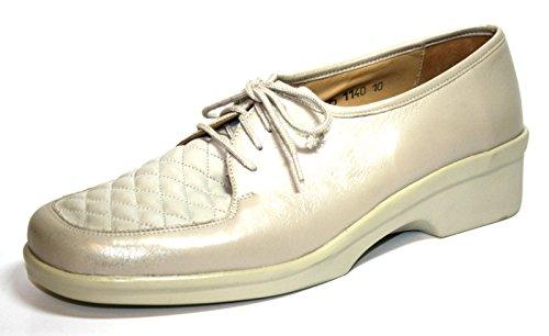 Ganter Renate 77 818 06 Damen Schuhe Halbschuhe, Weite G Weiß (creme)