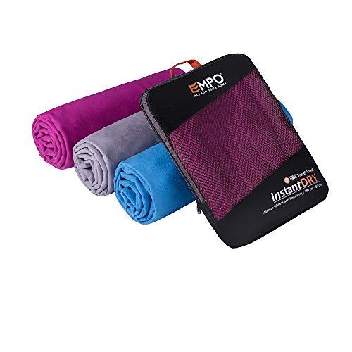 EMPO Large Serviette en Microfibre Sports Absorbante Sèche Rapidement Voyag
