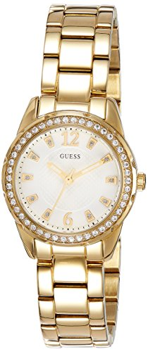 GUESS DESIRE W0445L2 LADIES GOLD PLATED STAINLESS STEEL 28MM QUARTZ WATCH
