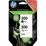 HP 300 2-Pack negro/Tri-color cartuchos de tinta originales